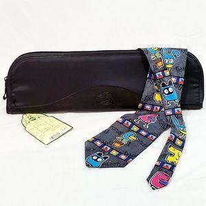 Dopp Travel Tie Case Zip Black NWT Nylon